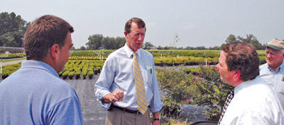 Rep. Etheridge visits local nursery, discusses potential