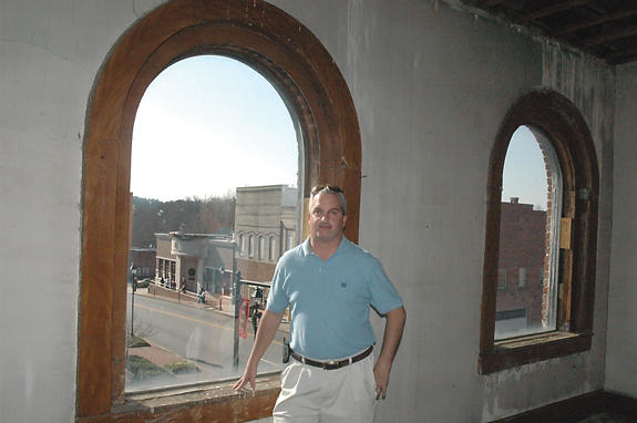 Cox has big visions for downtown Louisburg