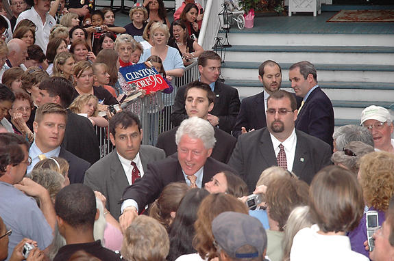 <i>Bill Clinton visits Louisburg</i>