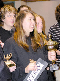 <FONT SIZE=3>Louisburg High wins Quiz Bowl</font>