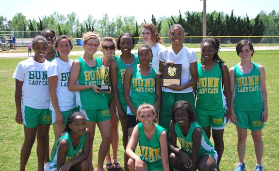 FRANKLIN COUNTY TRACK CHAMPIONSHIP WINNERS - HIGH SCHOOL GIRLS - BUNN