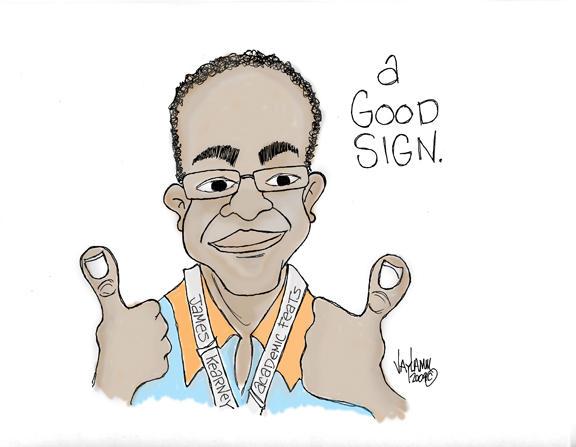 Editorial Cartoon: Thumbs Up