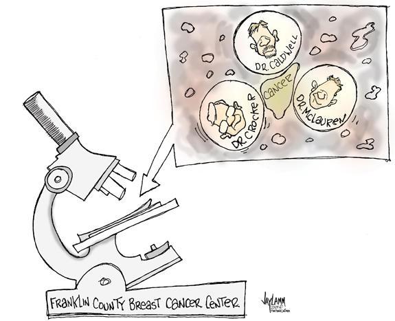 Editorial Cartoon: Three against the