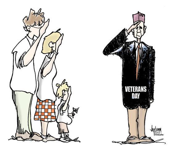 Editorial Cartoon: Salute