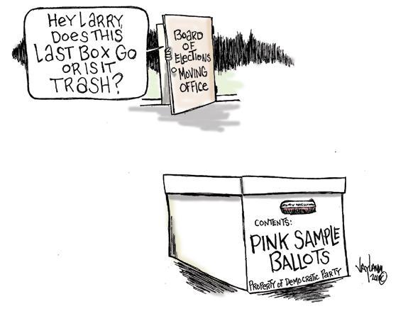 Editorial Cartoon: Petty in Pink