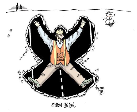 Editorial Cartoon: Three to a shovel