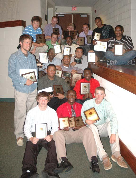 BHS BOYS AWARD HONOREES