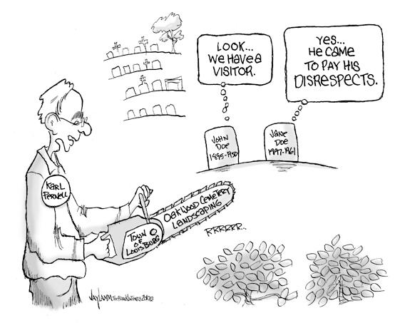Editorial Cartoon: The Elitist's Chain Saw Massacre