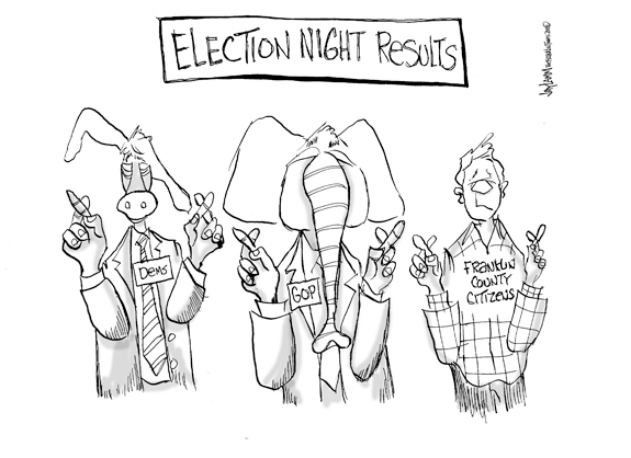 Editorial Cartoon: Crosshairs