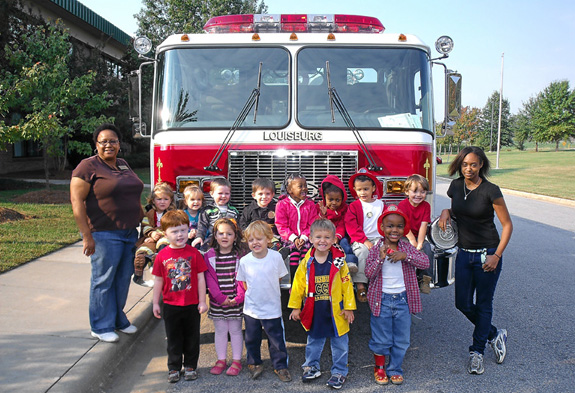 VGCC Franklin Campus child care students learn fire safety