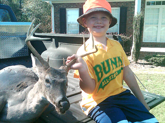 HIS FIRST BUCK AS ONE TO REMEMBER
