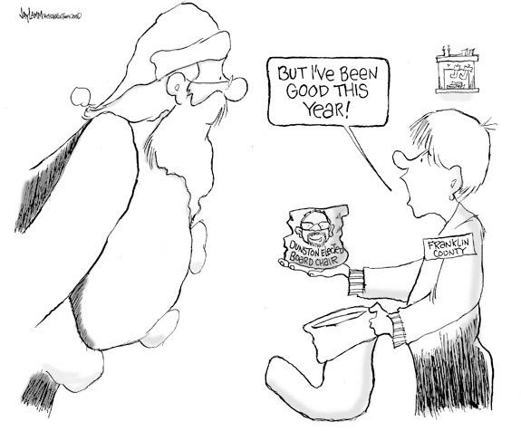 Editorial Cartoon: Seasick Crocodile