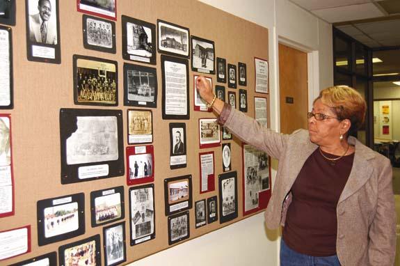 Louisburg displays black history exhibit