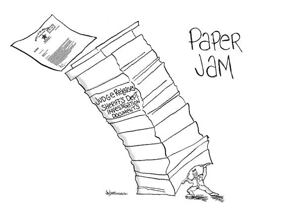 Editorial Cartoon: Paper Doll