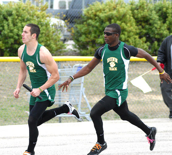 COUNTY TRACK MEET ACTION