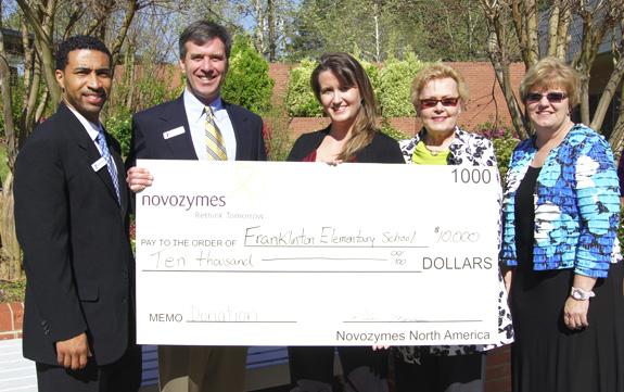 Novozymes donation makes tutoring program possible