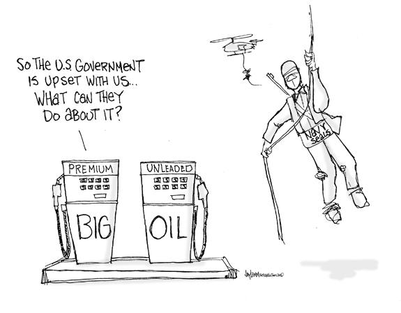 Editorial Cartoon: Oil Rigged