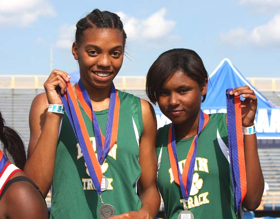 SHOWING OFF THEIR STATE MEDALS