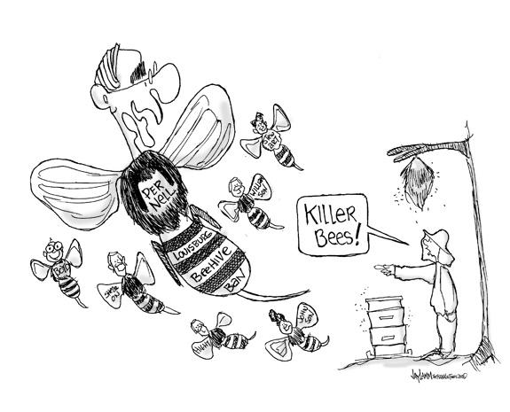 Editorial Cartoon: Un-Bee-liveable