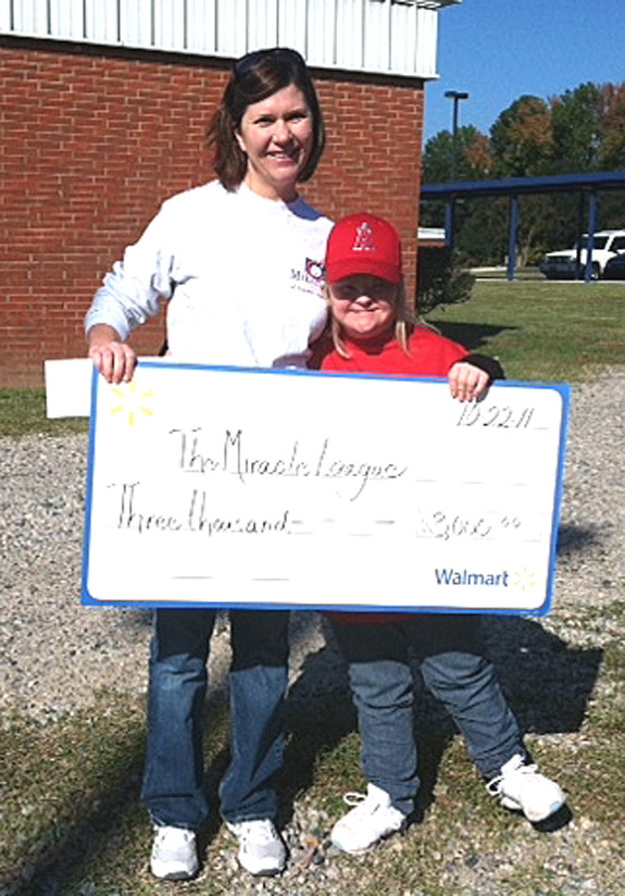 MIRACLE LEAGUE CHECK ACCEPTED