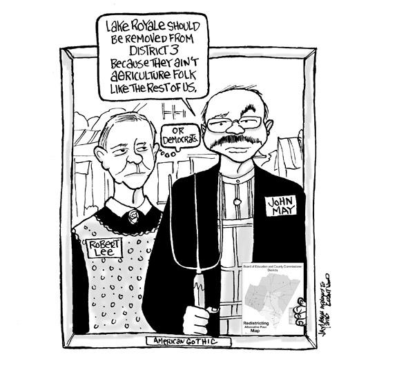 Editorial Cartoon: Still Can't Get Over I Lost To Glen Bradley