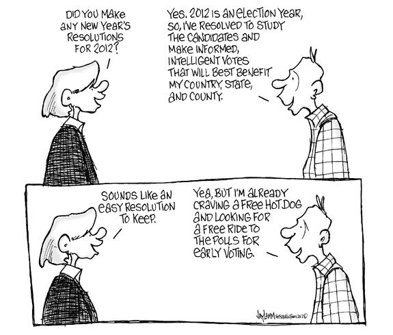 Editorial Cartoon: Resolution