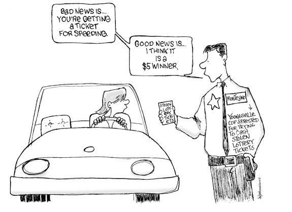 Editorial Cartoon: Ticket to Slide