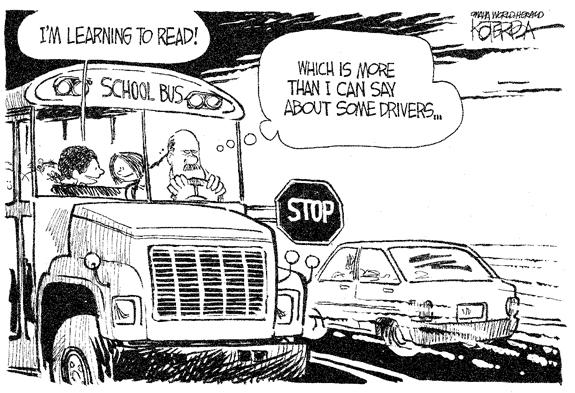 Editorial Cartoon: School Bus