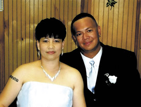 Couple weds in private ceremony