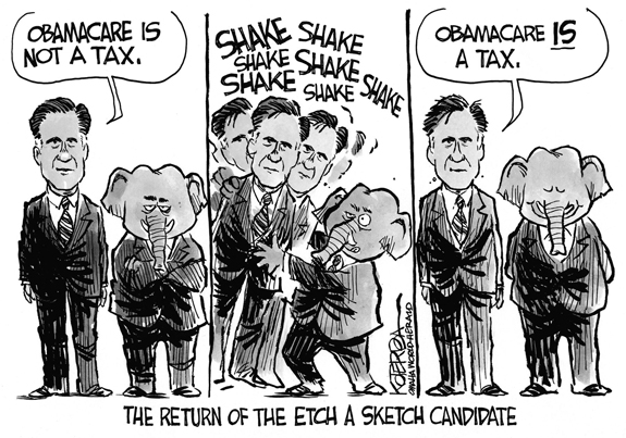 Editorial Cartoon: The Etch-A-Sketch Candidate