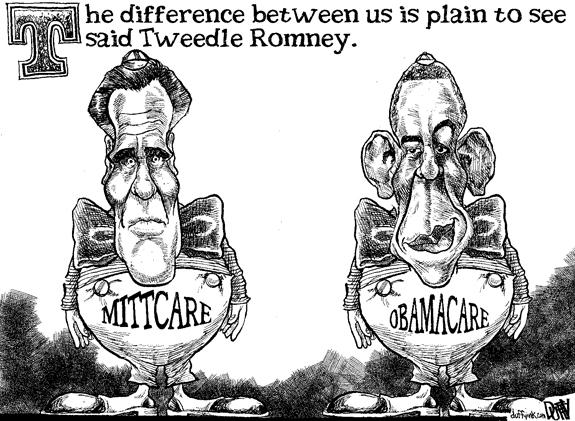 Editorial Cartoon: Tweedle Romney