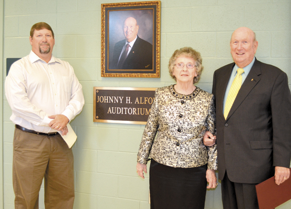 <i>Bunn High names auditorium in honor of Johnny Alford</i>