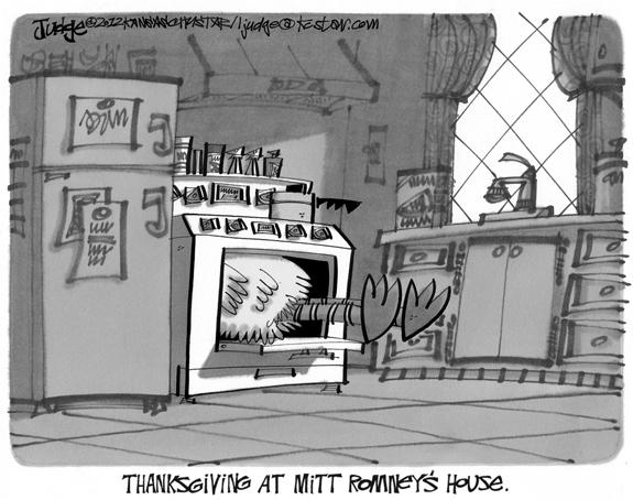 Editorial Cartoon: A Romney Thanksgiving