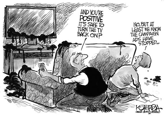 Editorial Cartoon: Campaign Ads