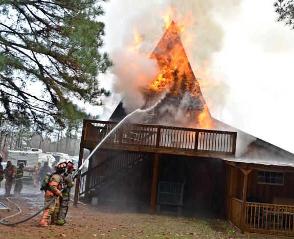 Fireman's parents' home burns to ground