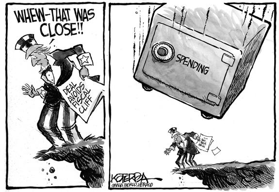 Editorial Cartoon: On The Edge