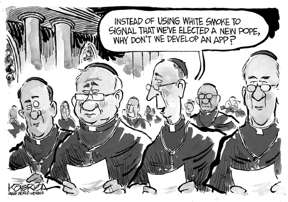 Editorial Cartoon: Pope App