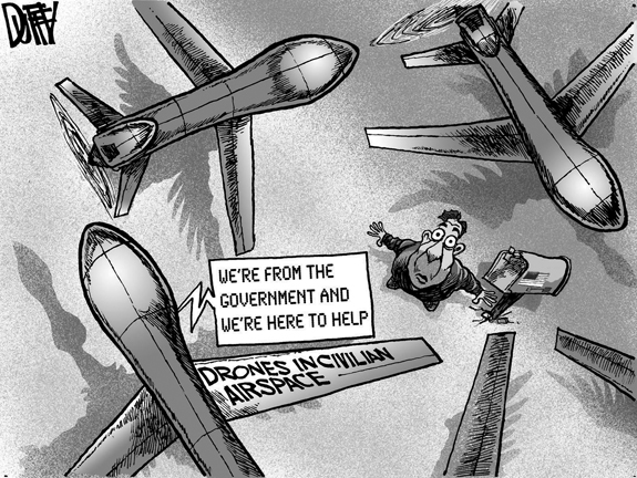 Editorial Cartoon: Drones