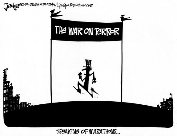 Editorial Cartoon: Marathons