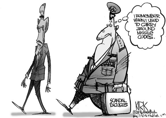 Editorial Cartoon: Scandal Excuses