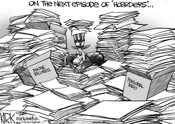 Editorial Cartoon: Hoarders