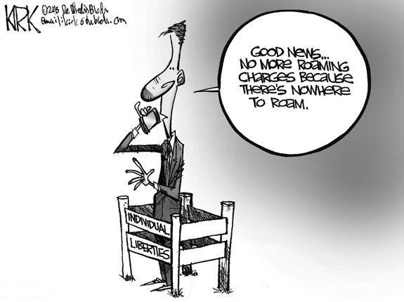 Editorial Cartoon: Roaming