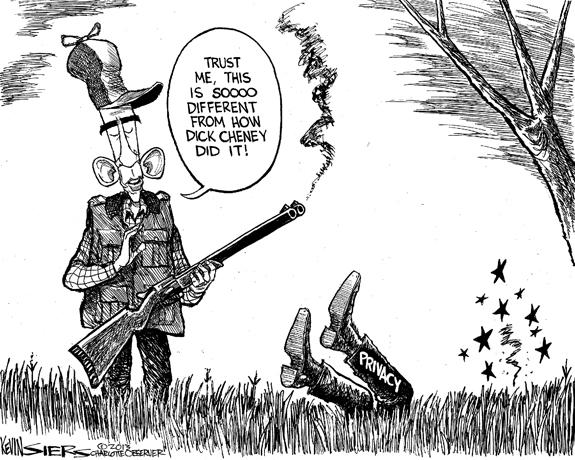Editorial Cartoon: Privacy