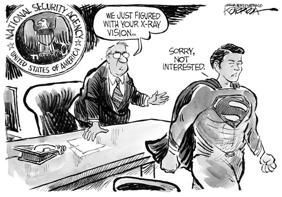 Editorial Cartoon: Superman