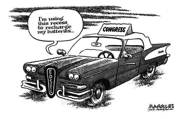 Editorial Cartoon: Recharging?