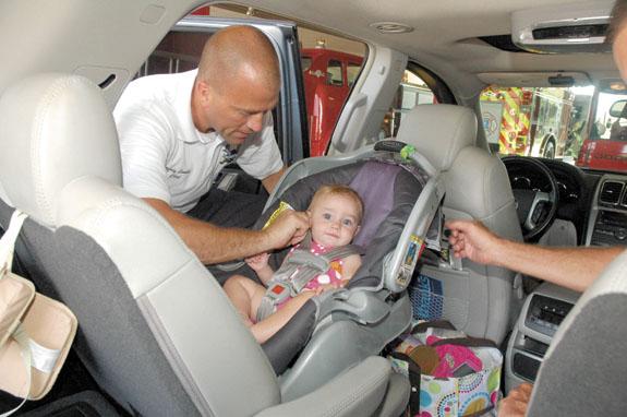 <i>Firemen helping keep kids safe</i>