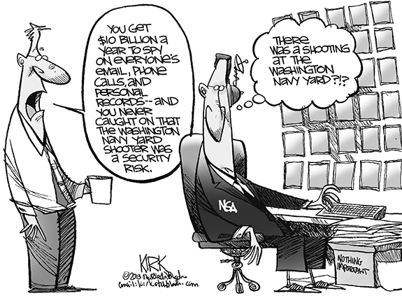 Editorial Cartoon: NSA