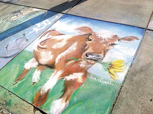 Area artists transform sidewalks into 'canvas', 3