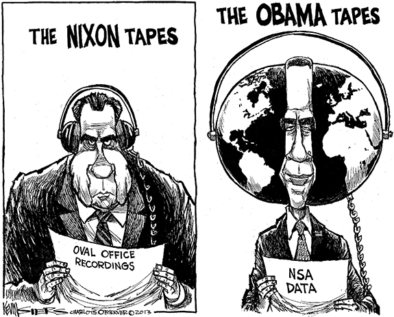 Editorial Cartoon: Presidential Tapes