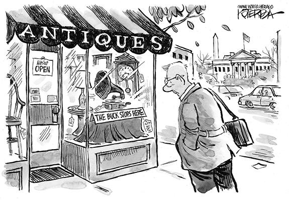 Editorial Cartoon: The Buck Stops Here